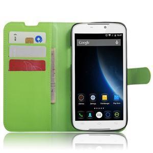 Peňaženkové puzdro pre mobil Doogee X6 - zelené - 4