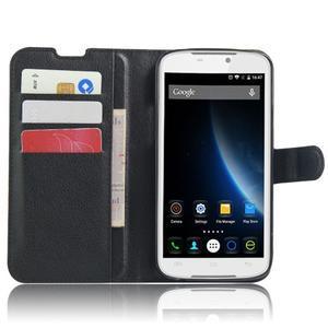 Peňaženkové puzdro pre mobil Doogee X6 - čierne - 4