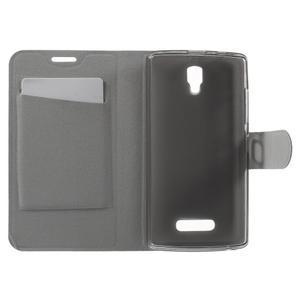 Horse peňaženkové puzdro pre Lenovo A2010 - čierné - 4