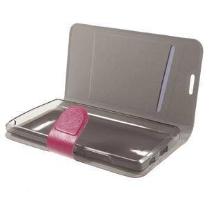 Horse peňaženkové puzdro pre Lenovo A2010 - rose - 4