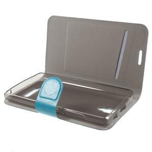 Horse peňaženkové puzdro pre Lenovo A2010 - modré - 4
