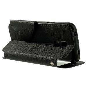 Peňaženkové puzdro s okienkom pro Samsung Galaxy S5 mini -  čierne - 4