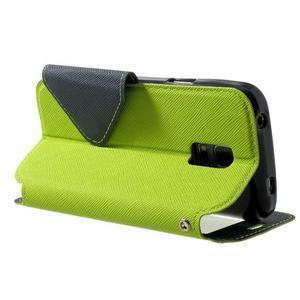 Peňaženkové puzdro s okienkom pro Samsung Galaxy S5 mini -  zelené - 4