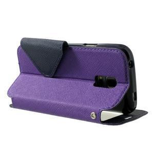 Peňaženkové puzdro s okienkom pro Samsung Galaxy S5 mini -  fialové - 4