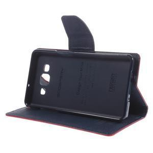 Mr. Fancy koženkové puzdro na Samsung Galaxy A5 - červené - 4
