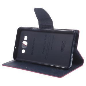 Mr. Fancy koženkové puzdro na Samsung Galaxy A5 - rose - 4