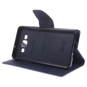 Mr. Fancy koženkové puzdro pre Samsung Galaxy A5 - fialové - 4