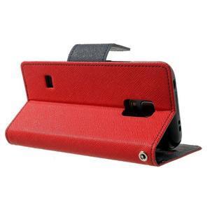 Diary PU kožené puzdro pre Samsung Galaxy S5 mini - červené - 4