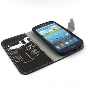 Peňaženkové puzdro pre mobil Samsung Galaxy S3 - mačička s knihou - 4