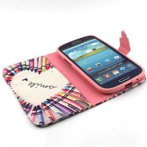 Peňaženkové puzdro na mobil Samsung Galaxy S3 - srdce z voskovek - 4