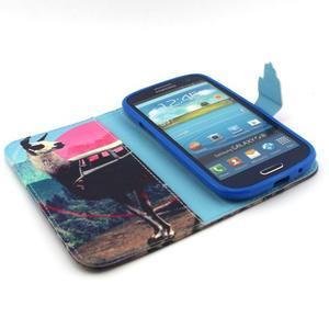 Peňaženkové puzdro pre mobil Samsung Galaxy S3 - lama - 4