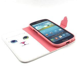 Peňaženkové puzdro pre mobil Samsung Galaxy S3 - mačička - 4