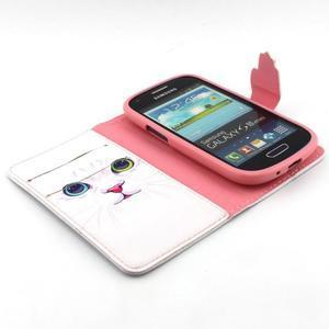Fun peněženko puzdro na Samsung Galaxy S3 mini - kočička - 4