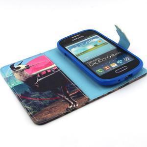Fun peňaženkové puzdro pre Samsung Galaxy S3 mini - lama - 4