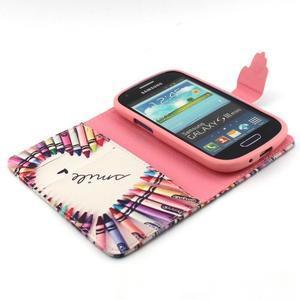 Fun peněženko puzdro na Samsung Galaxy S3 mini - srdíčko z voskovek - 4