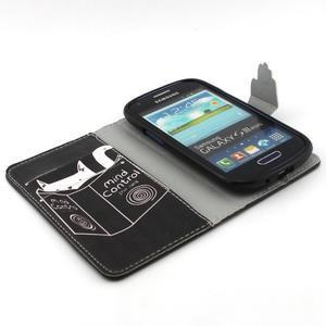 Fun peněženko puzdro na Samsung Galaxy S3 mini - kočička čte - 4