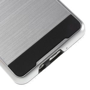 Hybridní gélové/plastové puzdro na Samsung Galaxy A5 - strieborné - 4