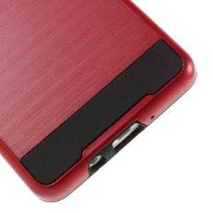 Hybridní gélové/plastové puzdro na Samsung Galaxy A5 - červené - 4