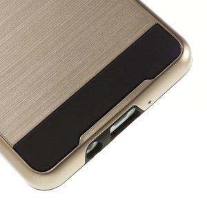 Hybridní gélové/plastové puzdro na Samsung Galaxy A5 - zlaté - 4