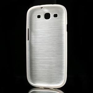 Brush gélový kryt na Samsung Galaxy S III / Galaxy S3 - biely - 4