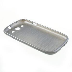 Brush gélový kryt na Samsung Galaxy S III / Galaxy S3 - šedý - 4