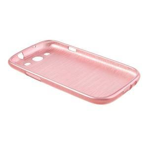 Brush gélový kryt pre Samsung Galaxy S III / Galaxy S3 - ružový - 4