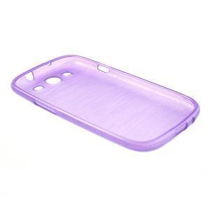 Brush gélový kryt na Samsung Galaxy S III / Galaxy S3 - fialový - 4