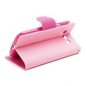 Mr. Fancy koženkové puzdro na Samsung Galaxy S3 - růžové - 4