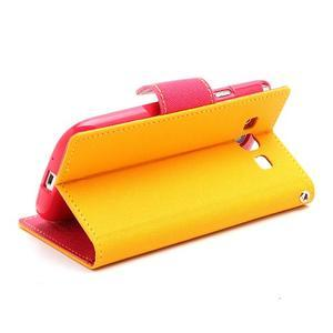 Mr. Fancy koženkové puzdro na Samsung Galaxy S3 - žlté - 4