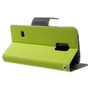 Diary PU kožené puzdro pre Samsung Galaxy S5 mini - zelené - 4