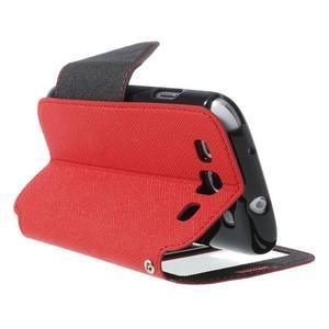 Peňaženkové puzdro s okýnkem pre Samsung Galaxy S3 / S III - červené - 4
