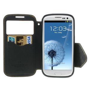 Peňaženkové puzdro s okýnkem pre Samsung Galaxy S3 / S III - žlté - 4