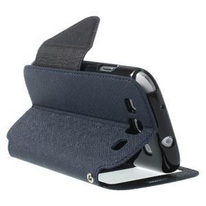 Peňaženkové puzdro s okýnkem pre Samsung Galaxy S3 / S III - tmavo modré - 4