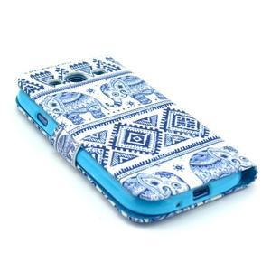 Peňaženkové puzdro pre mobil Samsung Galaxy S III - slony - 4