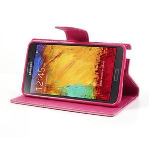 Goosp PU kožené puzdro na Samsung Galaxy Note 3 - růžové - 4
