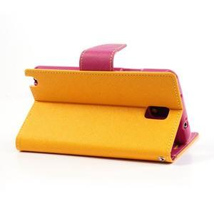 Goosp PU kožené puzdro na Samsung Galaxy Note 3 - žlté - 4