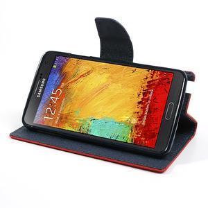 Goosp PU kožené puzdro pre Samsung Galaxy Note 3 - červené - 4