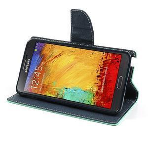 Goosp PU kožené puzdro na Samsung Galaxy Note 3 - azurové - 4