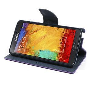 Goosp PU kožené puzdro pre Samsung Galaxy Note 3 - fialové - 4