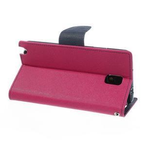 Goosp PU kožené puzdro pre Samsung Galaxy Note 3 - rose - 4