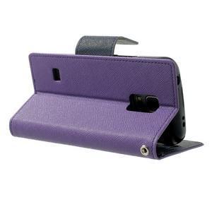 Diary PU kožené puzdro pre Samsung Galaxy S5 mini - fialové - 4