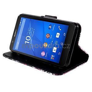 Koženkové puzdro pre mobil Sony Xperia E4 - motýľe - 4