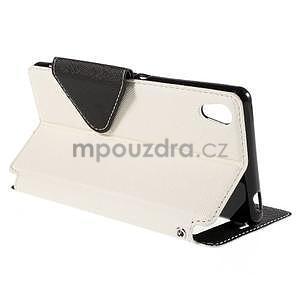 Peňaženkové puzdro s okienkom pre Sony Xperia M4 Aqua - biele - 4
