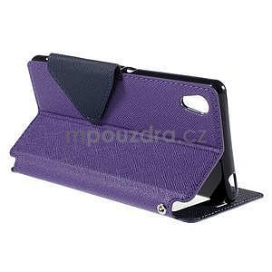 Peňaženkové puzdro s okienkom pre Sony Xperia M4 Aqua - fialové - 4