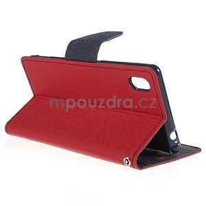 Ochranné pouzdro na Sony Xperia M4 Aqua - červené/tmavěmodré - 4