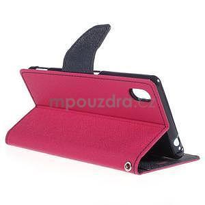 Ochranné puzdro pre Sony Xperia M4 Aqua - rose/tmavomodré - 4