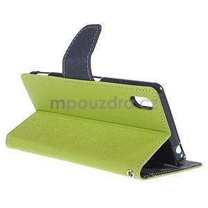 Ochranné puzdro pre Sony Xperia M4 Aqua - zelené/tmavomodré - 4