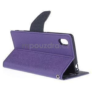 Ochranné puzdro pre Sony Xperia M4 Aqua - fialové/tmavomodré - 4