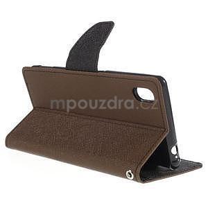 Ochranné puzdro pre Sony Xperia M4 Aqua - hnedé/čierne - 4