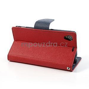 Fancy Peňaženkové puzdro pre mobil Sony Xperia Z1 - červené - 4